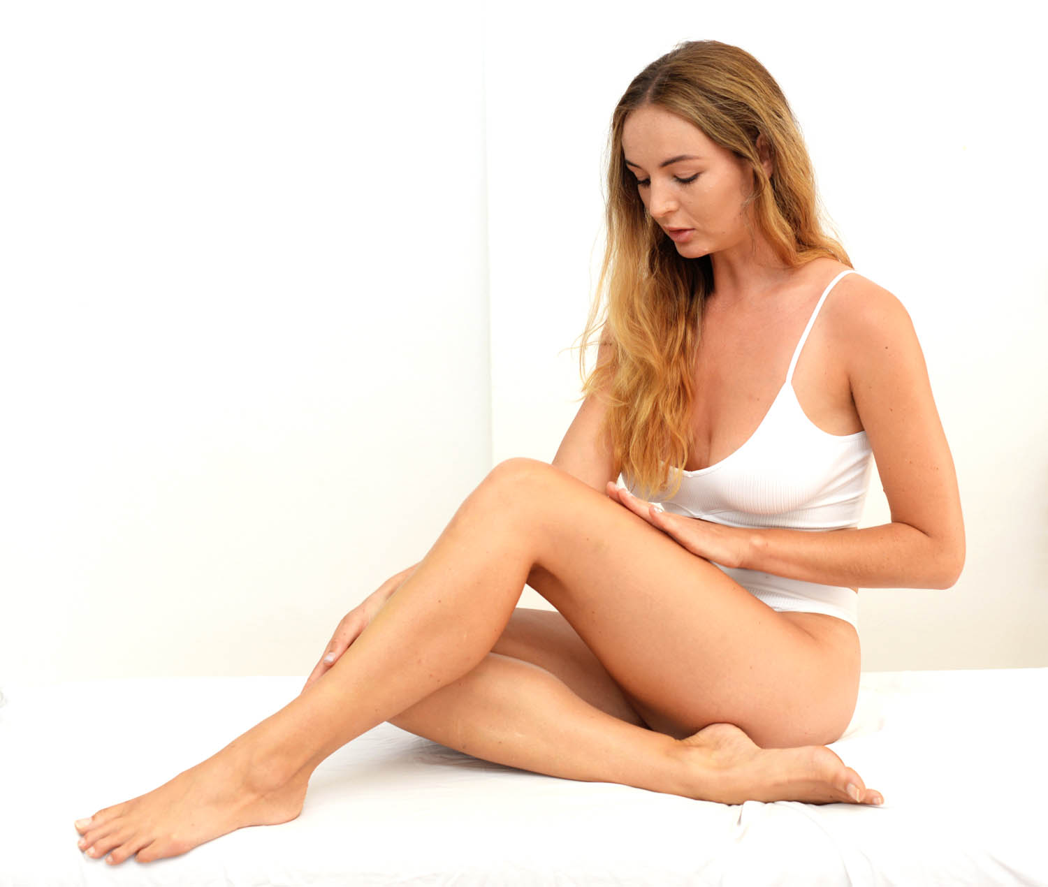 a woman after cryotherapy